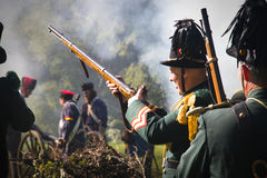 Reconstruction of the battle of Berchem Stock Photography