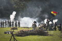 Reconstruction of the battle of Berchem Royalty Free Stock Image