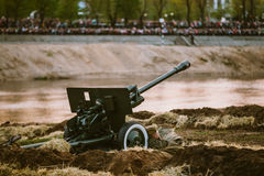 Reconstruction of Battle during events dedicated Stock Photography