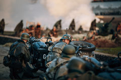 Reconstruction of Battle during events dedicated Stock Image