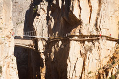 Reconstruction of  Camino del Rey Stock Image