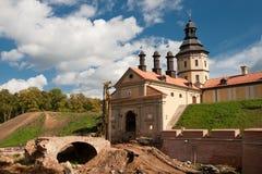Reconstruction of the castle Nesvizh entrance Royalty Free Stock Photo