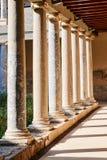 Reconstruction d'une villa romaine avec les colonnes ioniques Image libre de droits