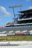 Reconstruction de Christchurch - le parc de Lancaster attend la démolition. Photographie stock