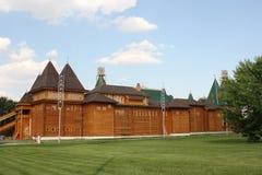 Reconstruction de la tour en bois russe antique Images libres de droits