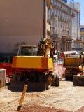 Reconstruction de rue, Zagreb, Croatie Image stock