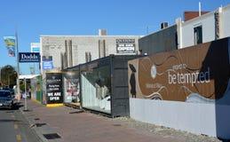Reconstruction de tremblement de terre de Christchurch - boutiques de Merivale. Photo libre de droits