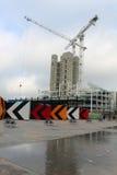 Reconstruction en cours à la croix du ` s de roi, Londres Photographie stock libre de droits