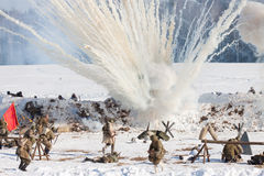 Reconstruction of the events in 1943 ending the Battle of Stalingrad. Stock Photography