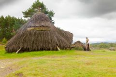 reconstruction folklorique des montagnes de musée de Li rural écossais Photos stock