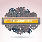 Reconstruction frame Stock Photos