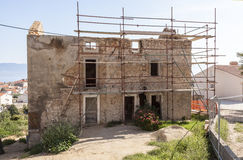 Reconstruction. Full reconstruction of the old building Royalty Free Stock Photography