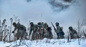 Reconstruction historique militaire de la deuxième guerre mondiale Image stock