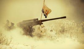 Reconstruction historique militaire de la deuxième guerre mondiale Photographie stock libre de droits