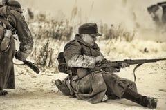 Reconstruction historique militaire de la deuxième guerre mondiale Photographie stock