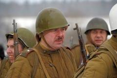 Reconstruction historique militaire de la deuxième guerre mondiale Photo libre de droits