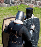 Reconstruction of knightly fight Stock Images
