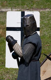 Reconstruction of knightly fight Royalty Free Stock Photos