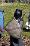 Reconstruction of knightly fight Royalty Free Stock Photography