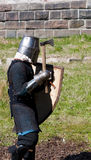 Reconstruction of knightly fight Stock Photos