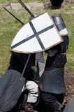 Reconstruction of knightly fight Royalty Free Stock Photo
