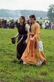 Reconstruction of life of ancient Slavs on the festival of historical clubs in Zhukovsky district of Kaluga region of Russia. In recent years, Russia became Stock Photos