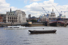 Reconstruction of London , Blackfriars bridge Stock Photo