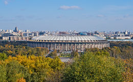 Reconstruction of Luzhniki Stadium in Moscow Royalty Free Stock Image