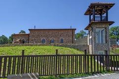 Reconstruction of the medieval church Ascension from XV century, Stari Mali grad. Bulgaria Stock Photo