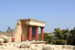 Reconstruction of the Minoan palace Royalty Free Stock Photo