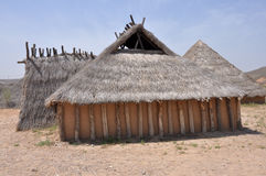 Reconstruction of Neolithic House Royalty Free Stock Photography
