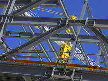 Steel girders on construction site royalty free stock photo
