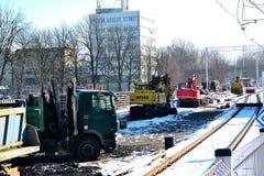 Free Reconstruction Of The Cieszyn Railway Station Track, 20.2. 2021, Cieszyn Silesia, Poland Stock Photo - 211154670