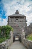 Reconstruction of an old Kazak fortress on Khortitsa Royalty Free Stock Image