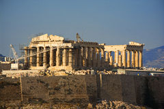 Reconstruction of Parthenon Royalty Free Stock Photo