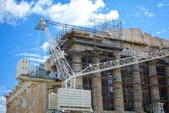 Reconstruction of Parthenon Stock Photos