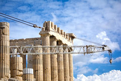 Reconstruction of Parthenon Royalty Free Stock Image