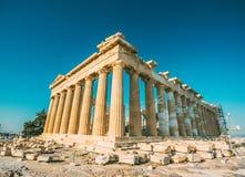 Reconstruction of Parthenon Royalty Free Stock Photo