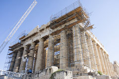 Reconstruction of Parthenon temple in Athens Royalty Free Stock Photos