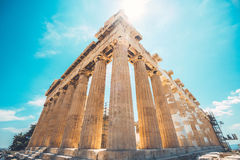 Reconstruction of Parthenon Stock Image