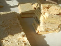 Reconstruction of a partitioning system with rock wool isolation Royalty Free Stock Photography