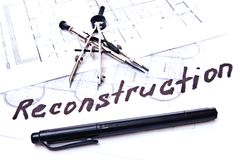 Reconstruction plan Royalty Free Stock Images