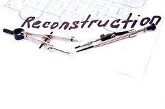 Reconstruction plan Royalty Free Stock Image