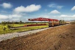 Reconstruction of the railway line Stock Photos