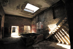 Reconstruction of roman house, Pompeii Royalty Free Stock Images