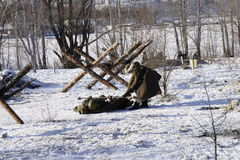 Reconstruction of the Second World War in Voronezh Stock Photography