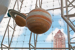 Reconstruction of the solar system and planets at the Metropolitan Museum of Art, New York Stock Images