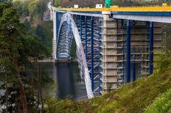 Reconstruction of steel arc bridge Royalty Free Stock Photo
