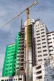 Reconstruction sur le vieux bâtiment Photos stock