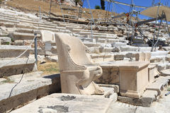 Reconstruction of the Theater of Dionysus Royalty Free Stock Photo
